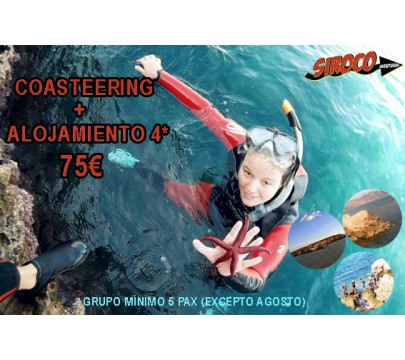 Active Weekend (Coasteering + Alojamiento)